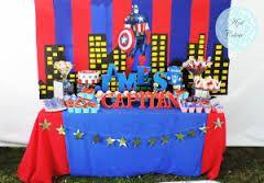 Resultado de imagen para mesa de dulces de capitan america