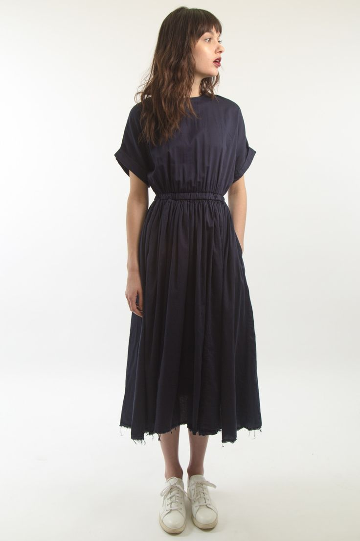 Black Crane Pleats Dress