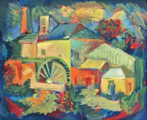 Watermill in the Adelaide Hills by Joseph Stanislaus Ostoja-Kotkowski