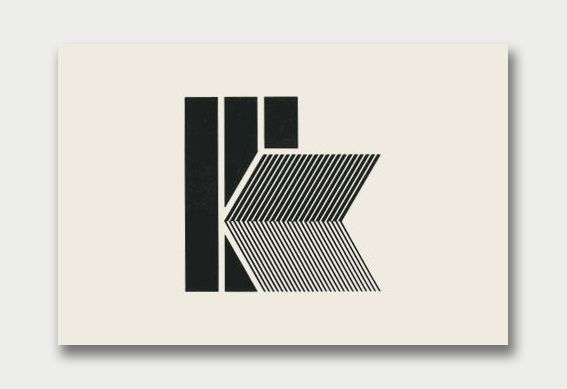 a typographic study indeterminately attributed to Polish modernist graphic designer Ryszard Sidorowski