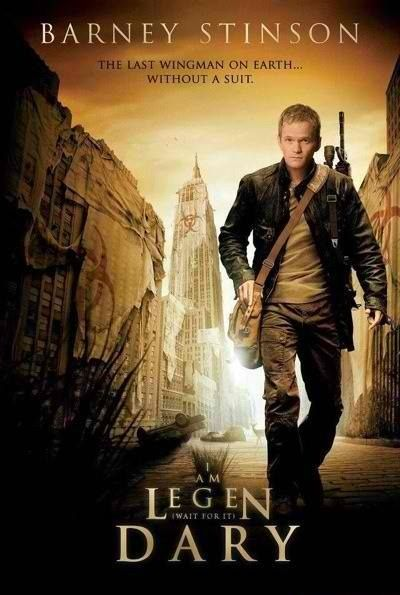 A play on the I Am Legend cover for the TV show How I Met Your Mother