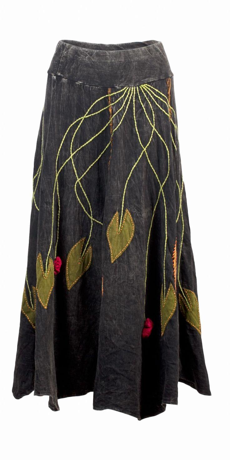 Great black flower skirt