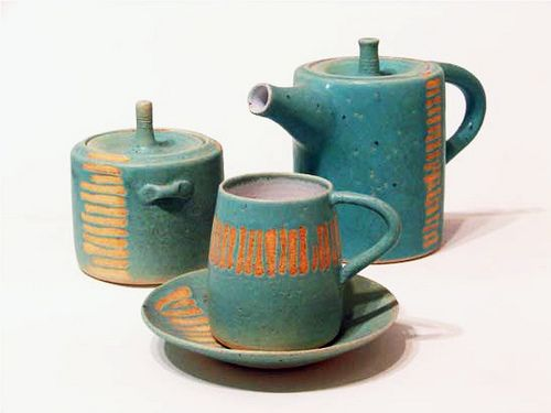 pottery.: Ceramic Teapot, George Vavatsi, Kitchens Goodies, Beautiful Teas, Teas Sets, Style Sets, Clay Shit, Beautiful Things, Ceramics Inspiration