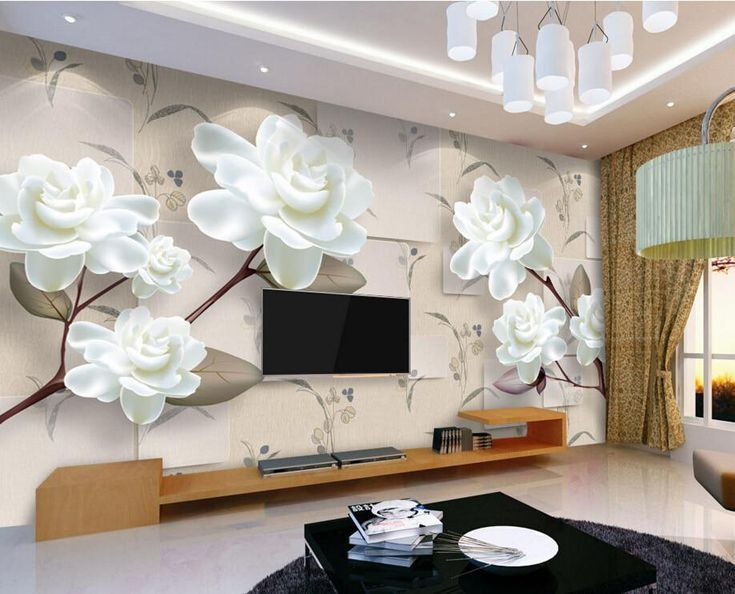 Custom Floral Wallpaper 3d Natural Scenery Murals For The Living Room Bedroom Restaurant Background Wall Waterproof Wallpaper Yesterday S Pr With Images Wallpaper Interior Design Modern Wallpaper Designs Home Decor Pictures