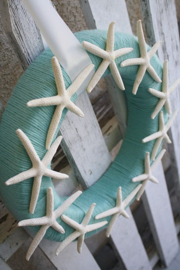 Diy beach house decor starfish yarn wreath cool diy decor ideas diy beach house decor starfish yarn wreath cool diy decor ideas while on a budget cool ideas for decorating your beach home with shells sand solutioingenieria Images