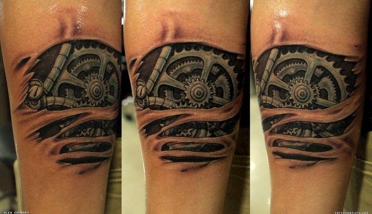 very intriguing   Tattoos   Pinterest   Mechanical tattoo