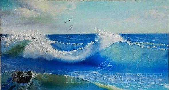 Удивительное море использовала в работе определенное масло. очень удачный был для меня эксперимент, так как море выглядит, как настоящее. Море удивительное своей красотой, своими множественными оттенками и красками.