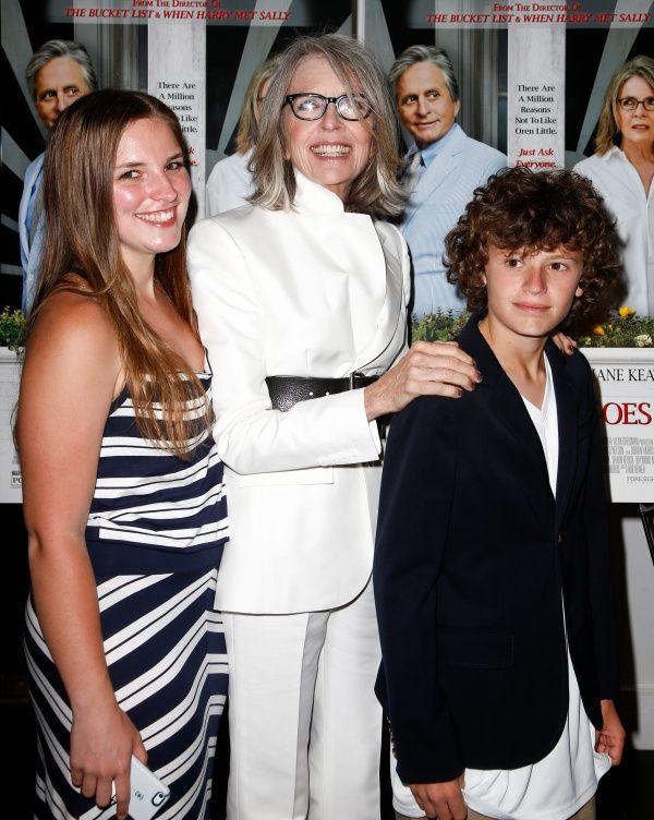 Foto van Diane Keaton & haar Zoon  Duke Keaton