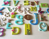 Wall alphabet wooden for nurseries and playrooms decoration room baby nursery daycare wall wood alphabet