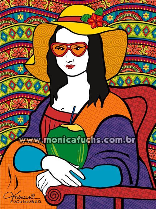 """Minha arte """"Monalisa Tropical"""" foi selecionada para participar da exposição """"Sorridente con La Monna Lisa"""", que acontecerá em setembro de 2016, em Arezzo, na Itália!"""