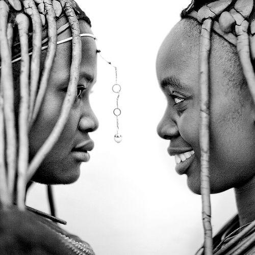 Himbas girls in profile, Angola | Flickr - Photo Sharing!