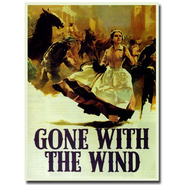 """Trademark Fine Art 18x24 inches """"Gone with the Wind"""""""