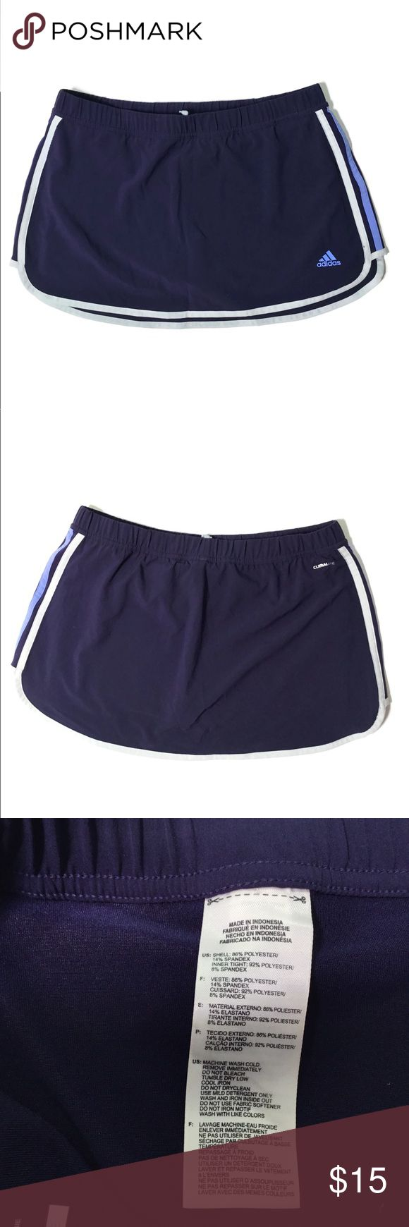 Adidas Tennis Skirt Barely worn and in great condition. Has built-in shorts under skirt. Size medium. Price is firm. adidas Skirts