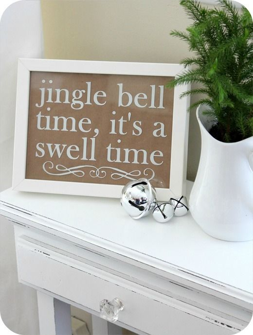 Cute! is it Christmas time yet?Christmas Signs, Frames, Cute Ideas, Jingle Belle, Belle Time, Christmas Printables, Swelling Time, Christmas Decor, Christmas Sayings