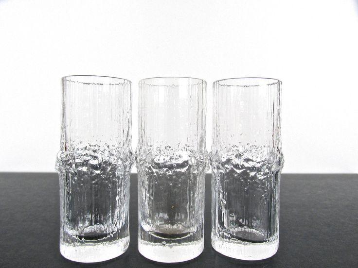 Set Of 3 Iittala Niva Shot Glasses, Tapio Wirkkala Glass Cordials, Scandinavian Icy Glass Shot Glasses by HerVintageCrush on Etsy