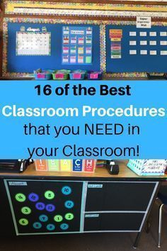 16 of the Best Classroom Procedures   Continually … – #Classroom #Continually …