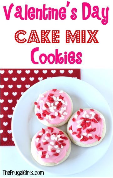 Valentine's Day Cake Mix Cookies Recipe! ~ from TheFrugalGirls.com ~ just a few ingredients and you've got yourself an easy, delicious cookie for your Valentine! #recipes #thefrugalgirls