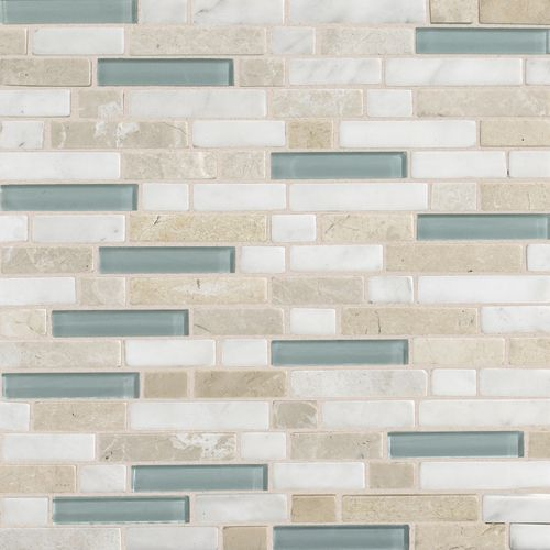 Check Out This Daltile Product Stone Radiance Whisper Green Random Mosaic Blend Sa51 Kitchen Back