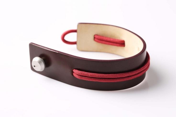 balenciaga marron rouge leather