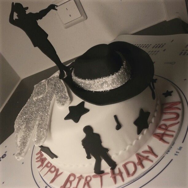 Michael Jackson cake. Vanilla cake filled with chantilly cream and praline walnuts