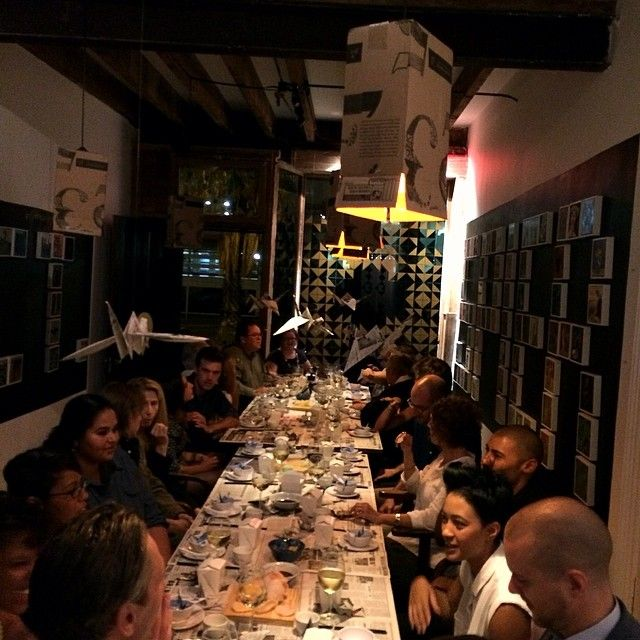 Full table at the #spiersecret Asian dinner by #muchogusto