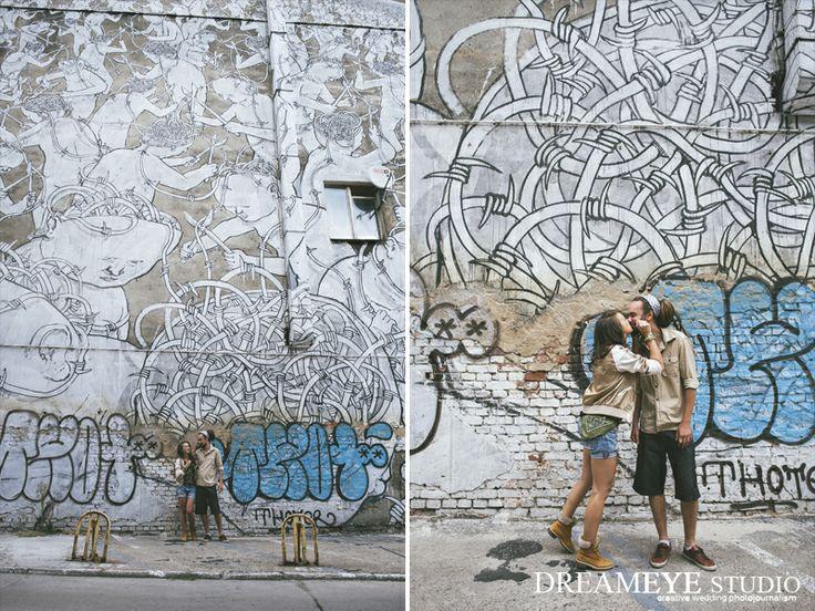 dreameyestudio.pl  #dreameyestudio #graffiti #blu #poznan #poland #kiss #photosession #street