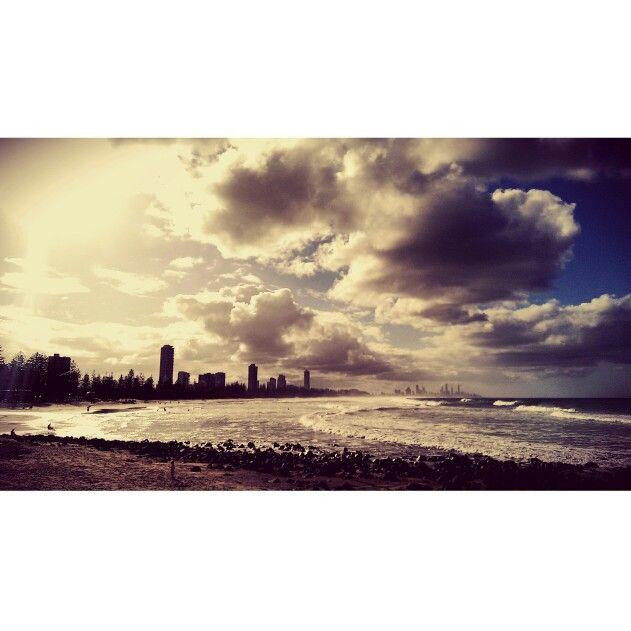Good morning, Goldy!! ⛅⛅⛅   #burleigh #goldcoast #beachphoto   #lifeonthegoldy #GameChanger #smartphonephotography #sky #mobilephotography #Burleighheads