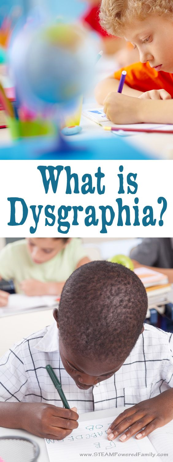 What is dysgraphia? It's a learning disability that results in difficulty with the process of writing. Learn the symptoms, accommodations, tech and more.  via @steampoweredfam