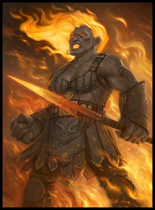 Fire Giant by Howard Lyon | Fantasy | Pinterest