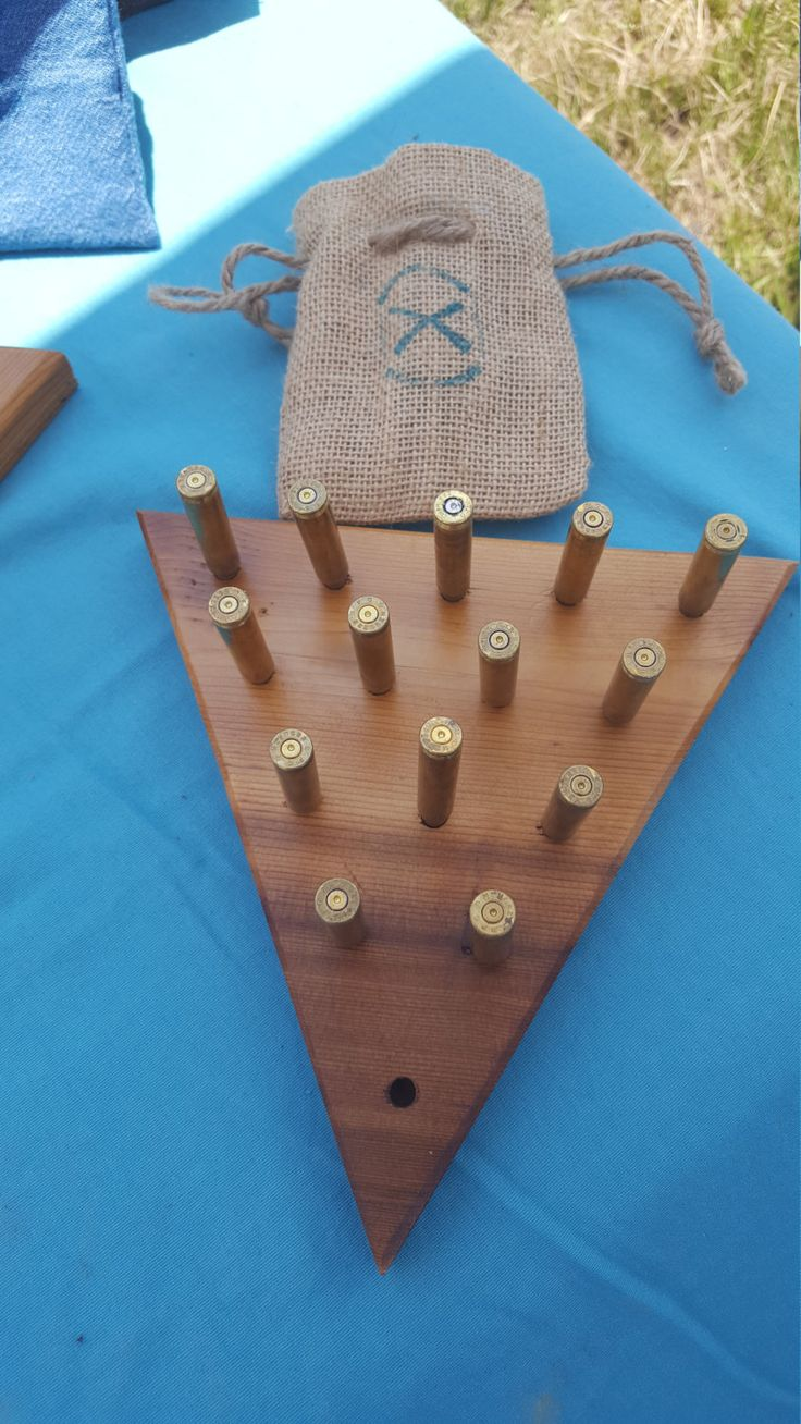 Handmade wood and bullet peg game by SouthernCharmBullet on Etsy