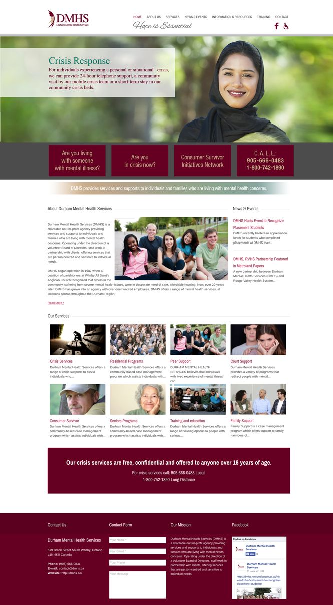 Health Service web design by New Design Group