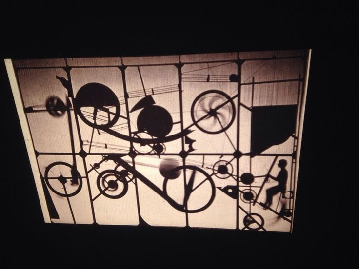 "Jean Tinguely Dada Theater Design-Curtain ""Eloge De La Folie"" '66 35mm Art Slide"