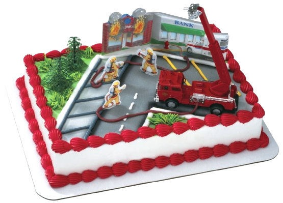 Firefighter Cake Topper Decoration Kit