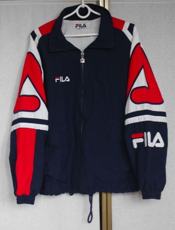 vintage 90s fila shell track jacket m l fila 90 s