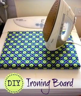 "table top ironing board - how to. I made mine 24""x48"" and keep it over my washer and dryer (my laundry room is also my sewing room)"