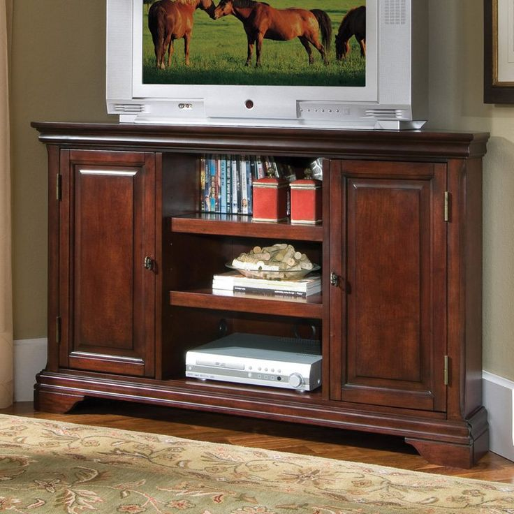 Home Styles Lafayette Corner Entertainment TV Stand - Cherry Finish
