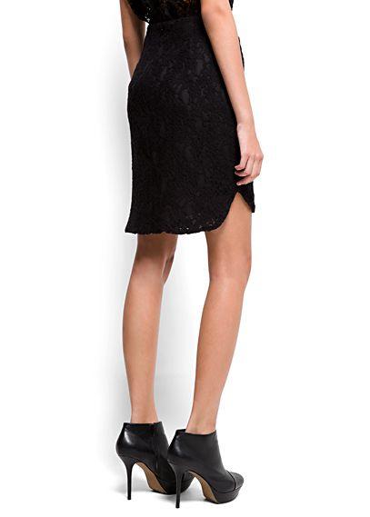 MANGO - Falda encaje asimétrica - Skirt