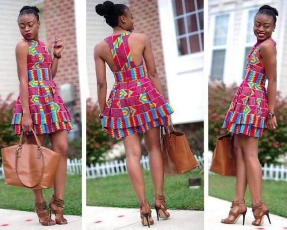 Sleeveless Dress/ African print Dress/ Ankara Print Dress/
