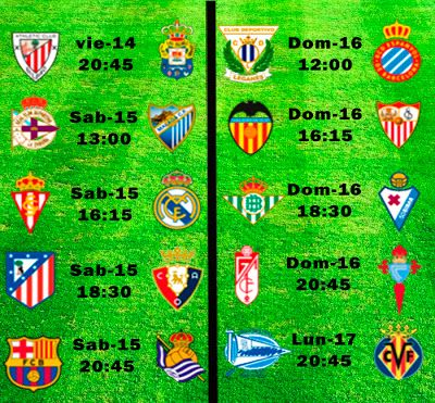 La Liga Full: Horario Jornada 32