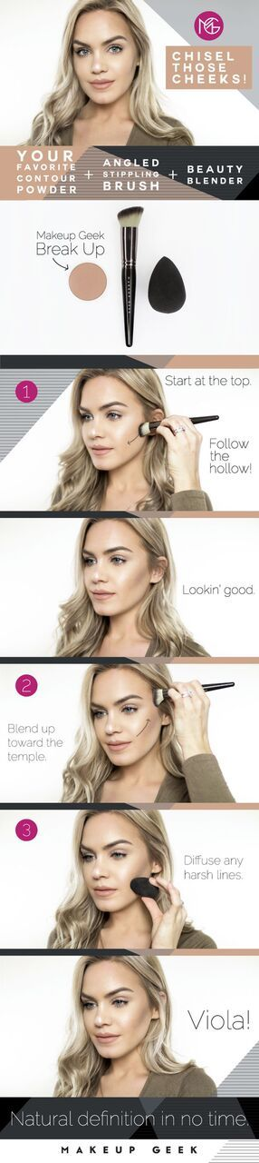 Chisel those cheeks! We're teaching you how to contour in just a few easy steps. How gorgeous is Mariah?! (Instagram: @thegalsguide)