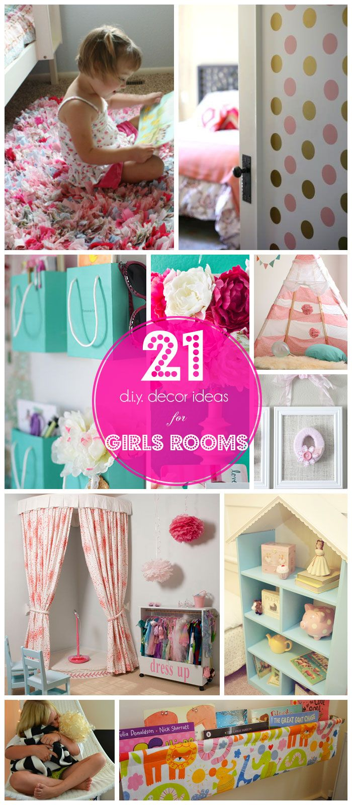 21 DIY Girls Bedroom Decorating Ideas on a Budget