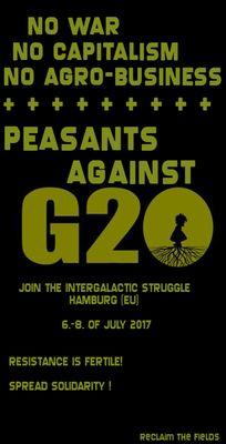 Den 7. og 8. juli 2017 sætter G20-topmødet Hamburg på den anden ende. Hansebyen vil være i belejringstilstand flere dage i træk for at afsikre mødet mellem stats- og regeringschefer fra de 19 største kapitalistiske nationer samt EU og repræsentanter fra div. trans- nationale finansinstitutioner. De mødes i Hamburg for at koordinere deres politiske praksis, der er bygget på udbytning, undertrykkelse og krig. G20-topmødet i Hamburg kunne udløse de største protester længe set i Tyskland. Det…