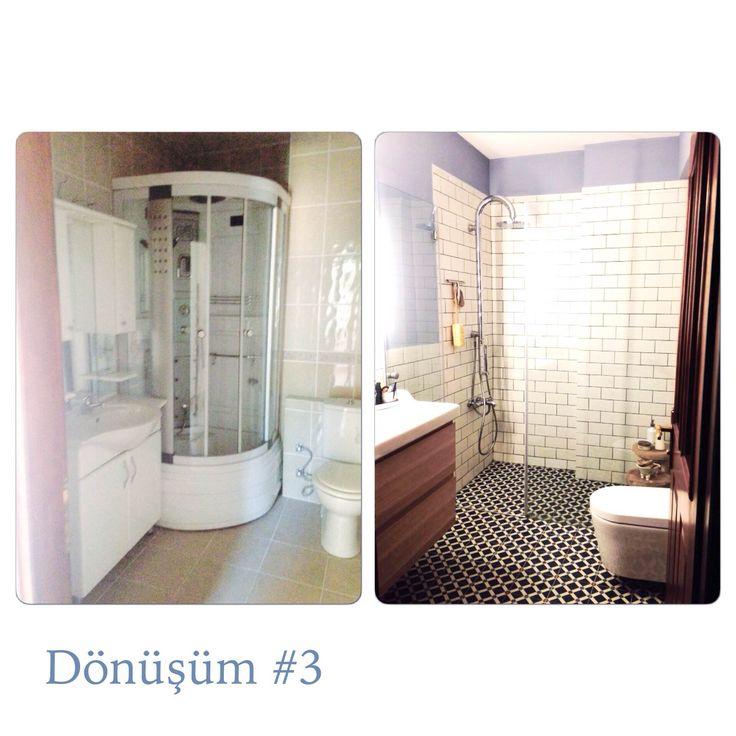 #bathroom #makeover #beforeandafter #banyo #yenileme small bathroom