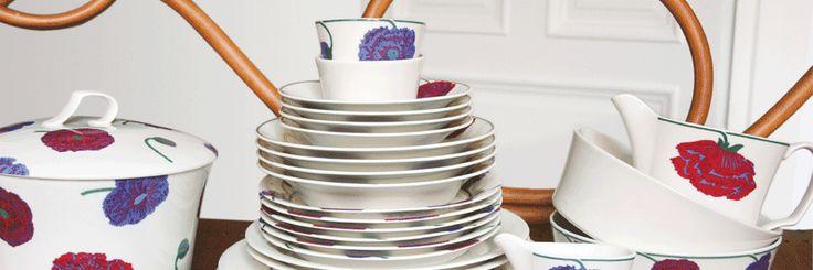 Arabia Illusia tableware, with purple poppies