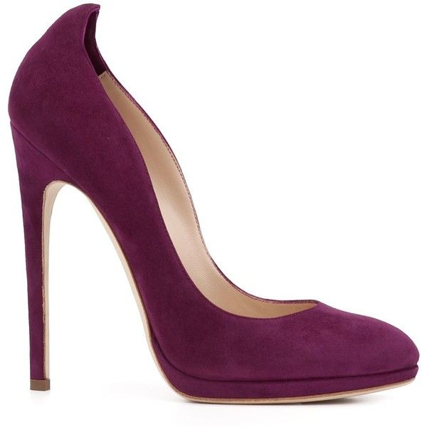 Chloe Gosselin 'Datura' pumps ($695) ❤ liked on Polyvore featuring shoes, pumps, heels, sapatos, purple leather shoes, leather footwear, purple leather pumps, purple shoes and heel pump