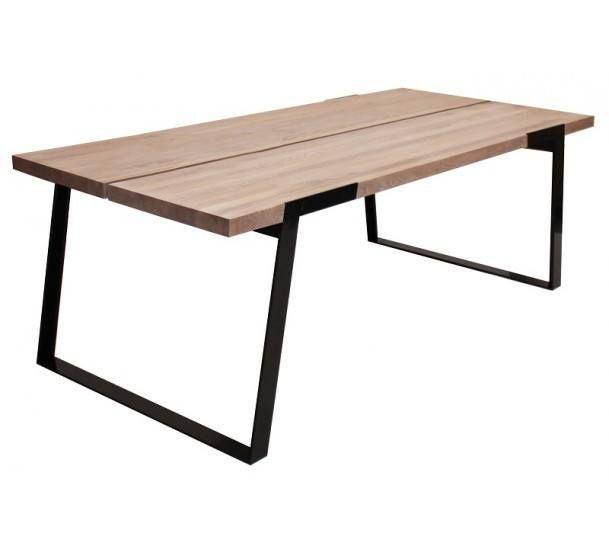 Silva Spisebord - 240 cm - Hvit oljet - Moderne og robust spisebord i massiv eg
