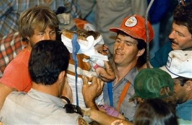 "Jessica McClure Morales (born March 26, 1986) became famous at the age of 18 months after falling into a well in the backyard of 3309 Tanner Dr. Midland, Texas, on October 14, 1987. Between that day and October 16, rescuers worked for 58 hours to free ""Baby Jessica"" from the eight-inch-wide well casing 22 feet (6.7 metres) below the ground."