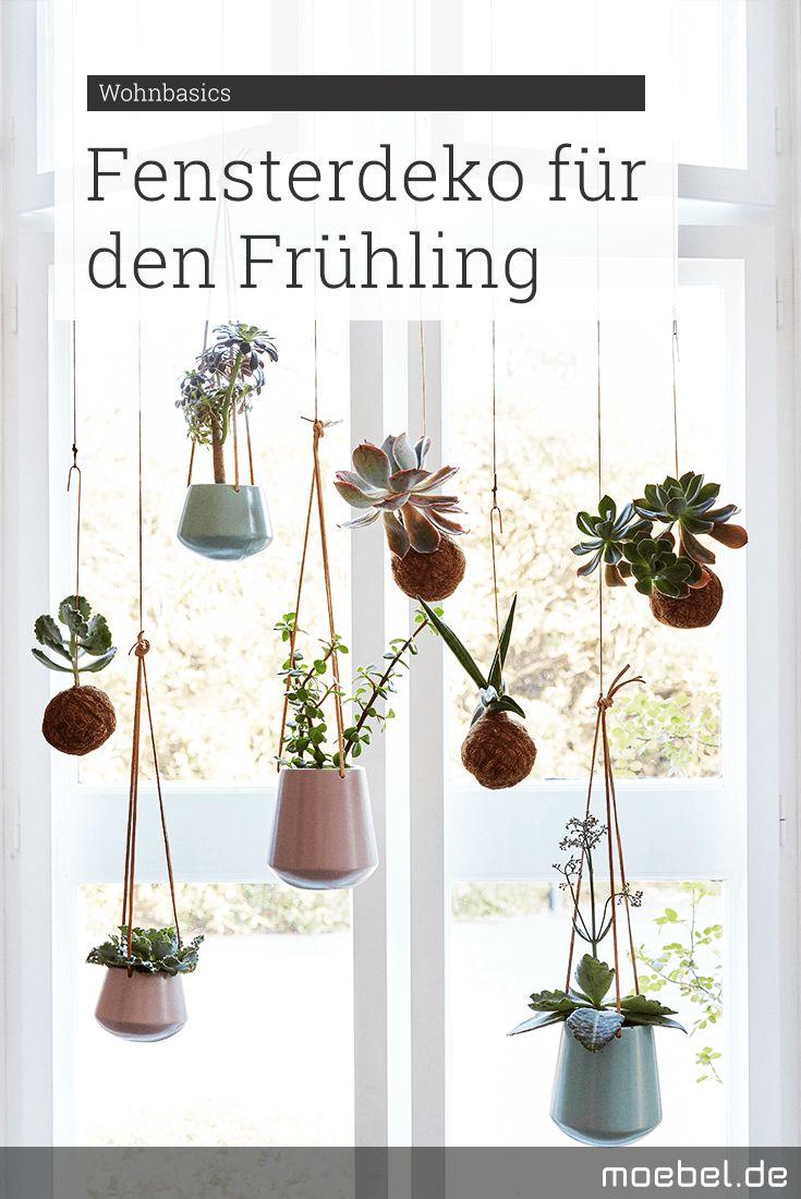 Schöne Fensterdeko Für Den Frühling Wir Hängen Blumen In