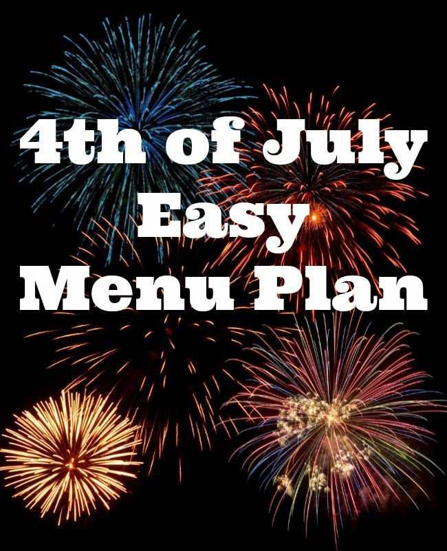 4th of july weekend menu