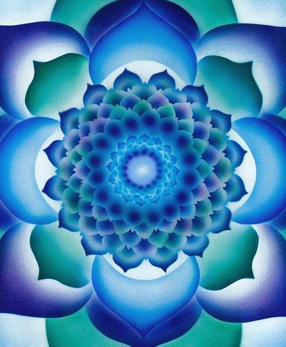 blue greens Mandala